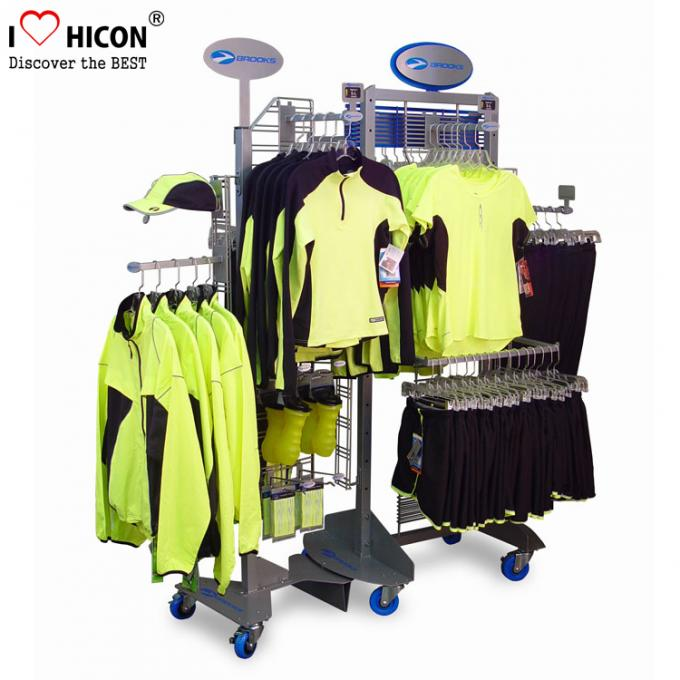 Customization Clothing Store Fixtures Clothes Retail Shop Rack Shop Fittings 4-way