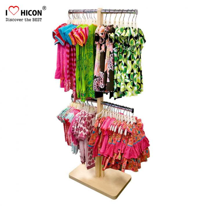 Kids Clothing Store Fixtures Customized MOQ 20pcs Apparel Store Display