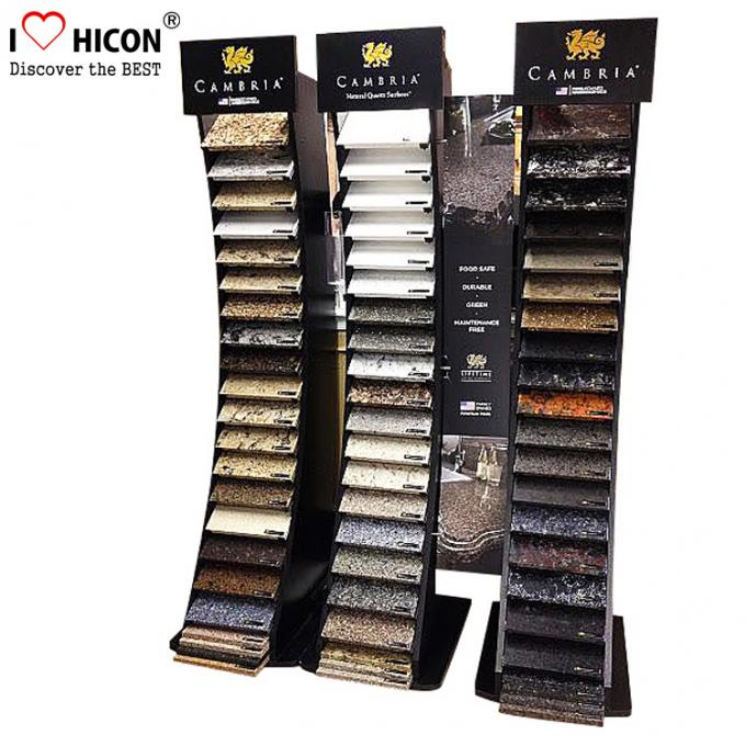 Decoration Tile Display Racks Floor Show Tile Stand Wooden Floor Tile Merchandising