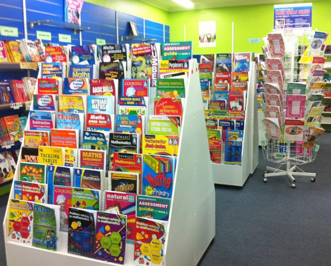 Greeting Cards Retail Store Fixtures Movable Commercial Book Display Wire Spinner Rack