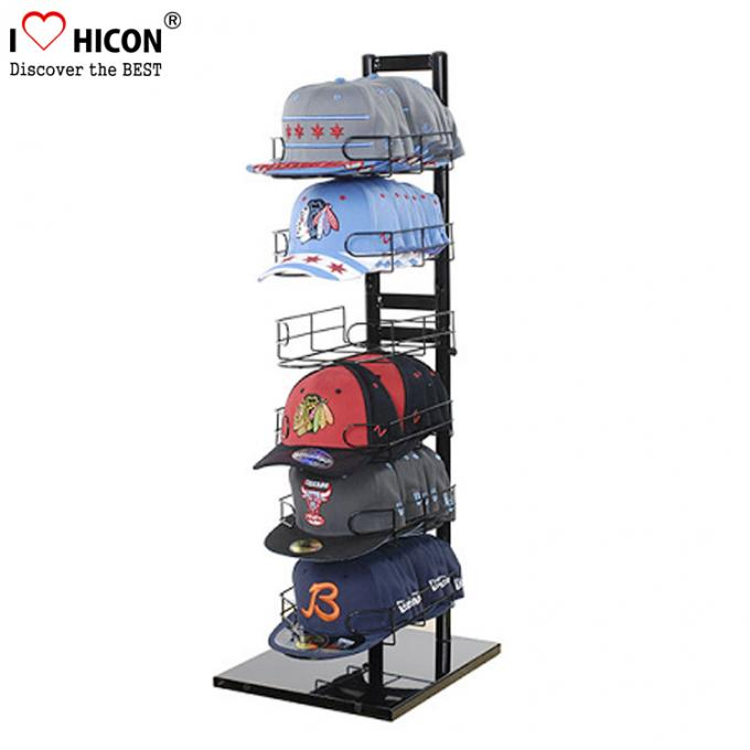Sportswear Products Store  6 - Layer Retail Display Fixtures Counter Top For Hat / Cap