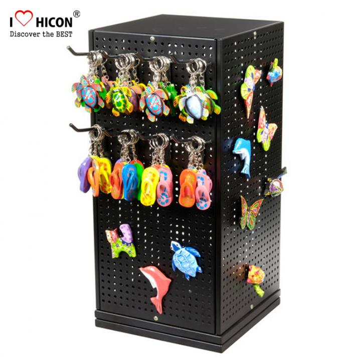 Turnable Keychain Counter Display Racks / Retail Hanging Display Racks 2-layer