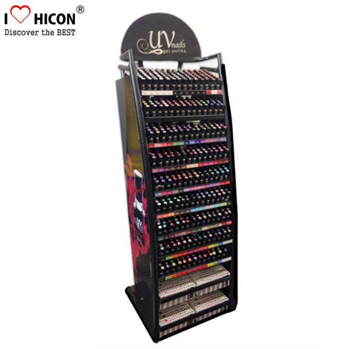 Floorstand Metal Cosmetic Display Stand Makeup Nail