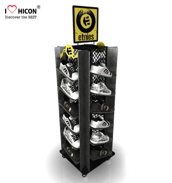 Instore Marketing Custom Metal Display Racks Slippers Display Stand Shoes Displays