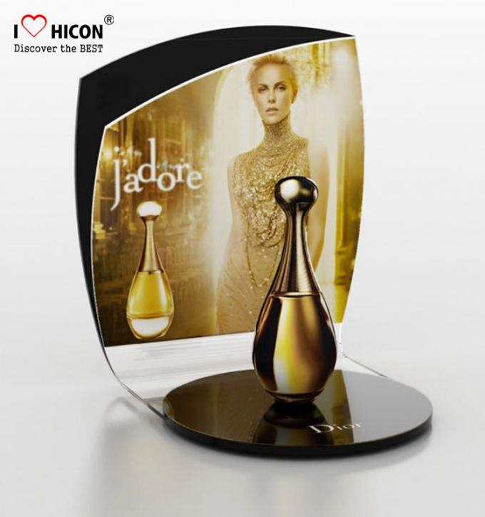 Lighting Makeup Display Stands Acrylic Perfume Cosmetic