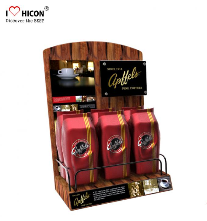Lure Clients Counter Display Racks Coffee Bag Promotional Retail Food Display Countertop