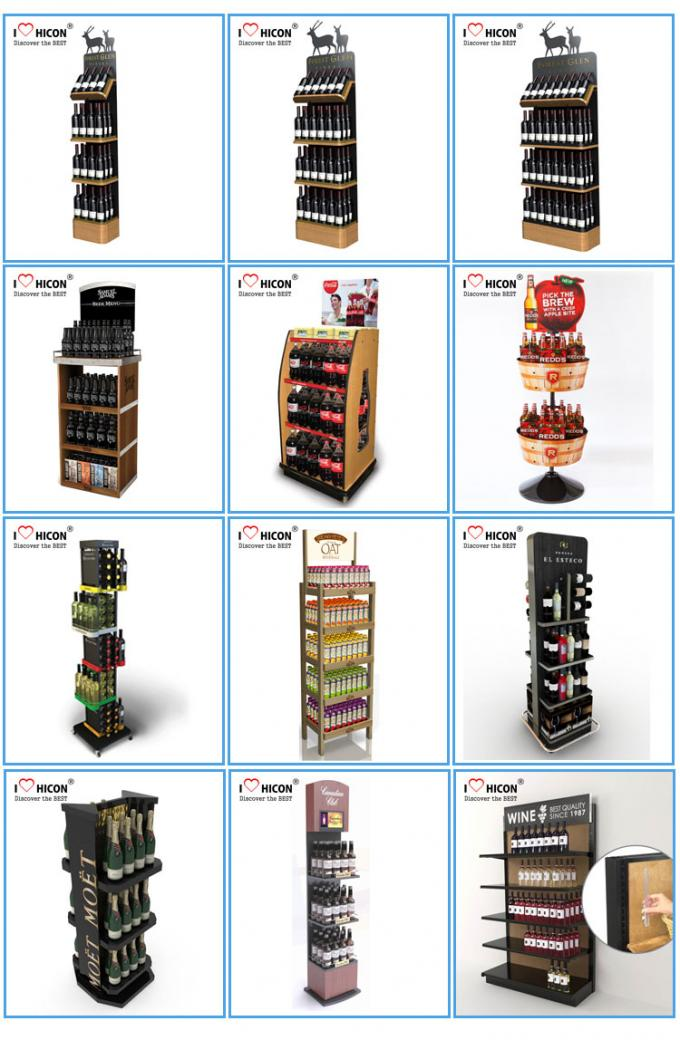 Eyecatching Wine Display Rack Metal Grape Wine Commercial Wine Floor Standing Rack