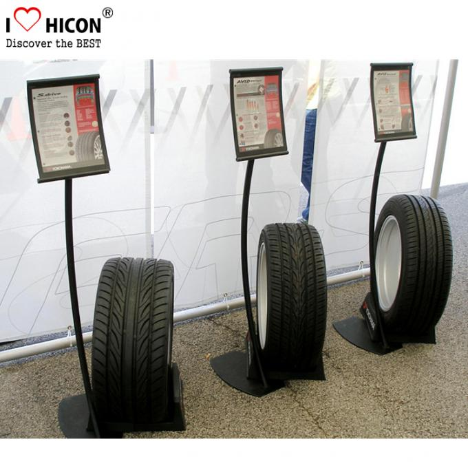Automotive Products Retail Shop Metal Truck Tire Storage Rack Display Powder Coating